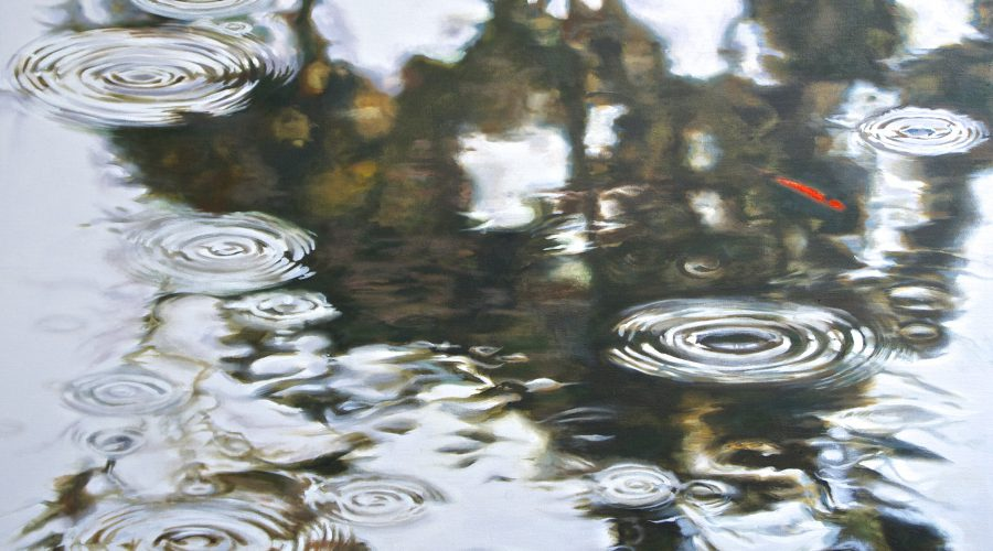 "BETWEEN DROPS  oil on canvas  40 x 50""    available"