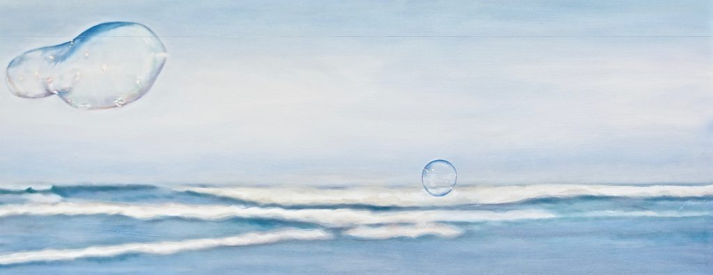 Soap Bubbles: soap bubbles on a windy day at the beach