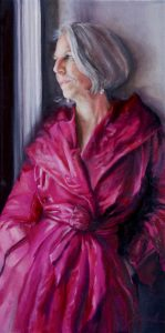Portraits and Commissions: chic satin evening wear