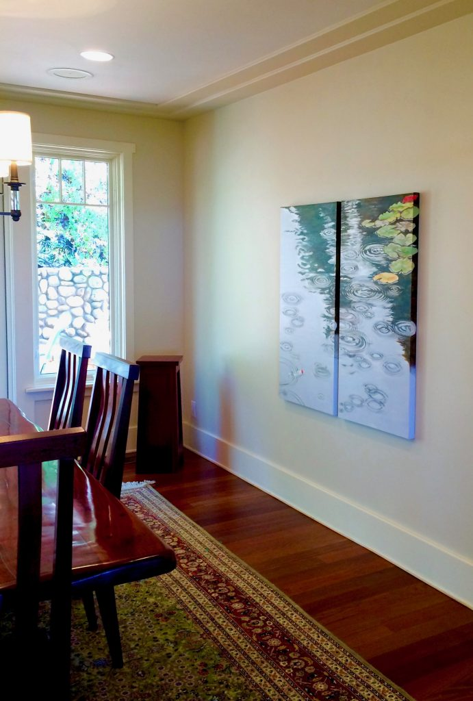 Surfacing Installed in Dining Room of Del Mar Home