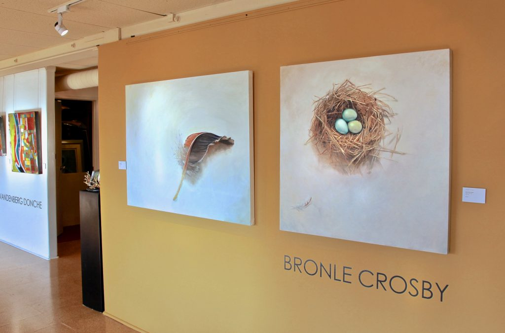 Egg and Feather Series Installed at Noel Baza Gallery San Diego
